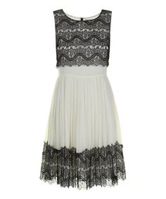 Love this Cream Reese Sleeveless Dress by Darling on #zulily! #zulilyfinds