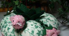 Polka Dot Pineapple: Strawberry Mice Pincushion