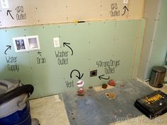 Relocating the washer and dryer to a different room in your house {Sawdust and Embryos}