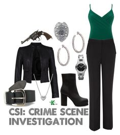 """""""CSI: Crime Scene Investigation"""" by wearwhatyouwatch ❤ liked on Polyvore featuring мода, Alexon, Planet, French Connection, Acne Studios, Vegetarian Shoes, Stella & Dot, Armani Exchange, POLICE и Philippe Audibert"""