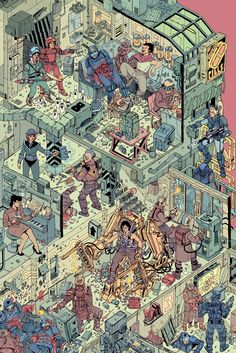 A couple posters I've been working on for the last year, in collaboration with my friend Laurie Greasley. Both posters have been curated and produced as screen-print by Hero Complex Gallery. Hanamura Showdown officially licensed by Blizzard. Armadura Darth Vader, Grafik Art, Isometric Art, Arte Cyberpunk, Street Art, Science Fiction Art, Illustrations And Posters, Pixel Art, Vector Art