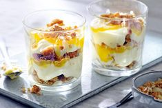 Limoncellow tiramisu - Recipe - Limoncellow-tiramisu – Recept – Allerhande Limoncello and tiramisu: two Italian toppers in one dish – Recipe – Allerhande - Cold Desserts, Ice Cream Desserts, Lemon Desserts, Mini Desserts, Limoncello Recipe, Tiramisu Recipe, Tasty Dishes, Food Dishes, Beignets