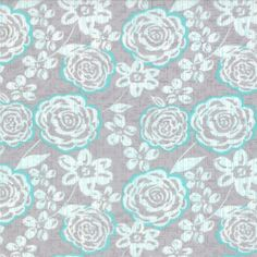 Modern Roses - Camelot in Patina // Moda Fabrics at Juberry Halcyon Days, Wool Thread, Rose Design, Gray Background, Embroidery Patterns, Fabric Design, Projects To Try, Lily, Quilts
