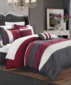 Look what I found on #zulily! Burgundy Carlton Comforter Set #zulilyfinds