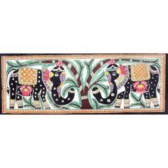 COLORED ELEPHANT DESIGN. http://www.indiancraftsmen.com/art-c4ca4238a0b923820dcc509a6f75849b/madhubani/colored-elephant-design
