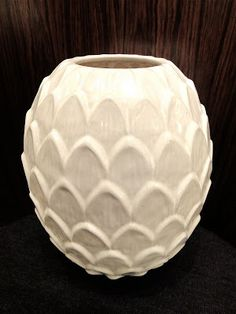 Artichoke vase from Denmark's Michael Andersen and Son, 1940s.