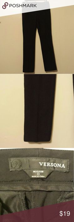 Straight legged black dress pants. NWOT! This pair of black dress pants have never been worn and are in excellent condition. Free of rips, tears, holes as well as from a smoke-free home, they are great for any business casual or professional dresswear. Versona Pants Straight Leg