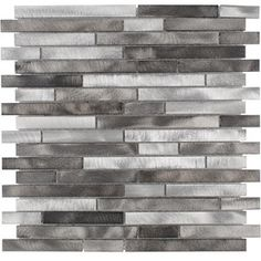 Elida Ceramica�Silver Mix Metal Mosaic Indoor/Outdoor Wall Tile (Common: 12-in x 13-in; Actual: 11.75-in x 12-in)
