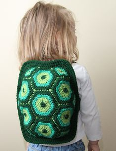 Crocheted turtle backpack (pattern included) SO cute!