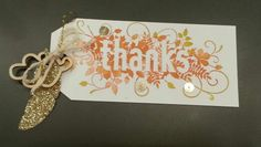 """Gift box tag made using Stampin'Up!  New 2014 Holiday Stamp set """" Seasonal scattered"""""""