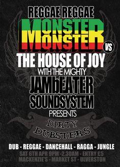 Reggae Reggae Monster Monster Flyer
