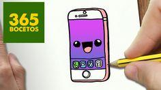 COMO DIBUJAR IPHONE 6S KAWAII PASO A PASO - Dibujos kawaii faciles - How...