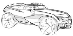 Car design sketches #5 on Behance