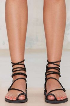 LOVE these lace up sandals!