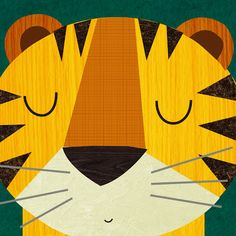 Retro tiger design by Rebecca Elliott