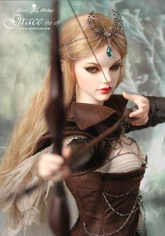 grace the elf Fantasy Art Women, Beautiful Fantasy Art, Dark Fantasy Art, Fantasy Girl, Beautiful Barbie Dolls, Pretty Dolls, Cute Dolls, Lifelike Dolls, Realistic Dolls