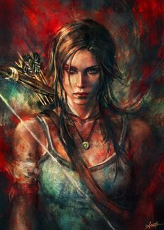 """Cool Art: 'Rebirth' by Alice X Zhang #TombRaider   """"Me and my boys love Tomb Raider"""""""