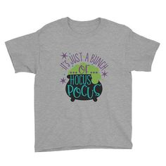 Hey, I found this really awesome Etsy listing at https://www.etsy.com/listing/557154391/hocus-pocus-happy-halloween-youth-t