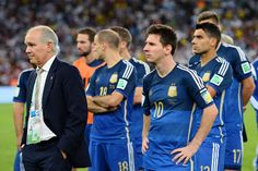 Argentina second place at the 2014 FIFA World Cup Brazil Final match between Germany and Argentina at Maracana on July 2014 in Rio de Janeiro, Brazil. Brazil World Cup, World Cup 2014, Fifa World Cup, Messi News, Messi Photos, Soccer Fifa, International Football, World Cup Final, Rio De Janeiro