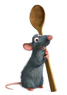 En Ratatouille, los únicos animalillos que aparecen son las ratas (aparte de los humanos, que estamos en todos lados... ménuda plaga!), entre las que destaca por su enorme sentido del gusto el protagonista, Remy.