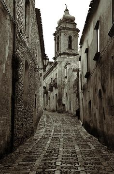 A Street in Erice. Erice is a historic town and comune in the province of Trapani in Sicily, Italy.   © RicardMN Photography