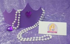 PARTY PACK Rapunzel Tiara & Heart Necklace by TeatotsPartyPlanning