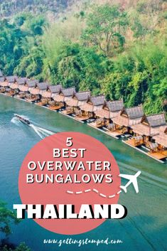 The best overwater bungalow options in Thailand. Travel to this Southeastern Asia destination for a vacation unlike any other. Perfect for honeymoons, the beach houses and resorts located on the small Thai islands are bucket list worthy. Find the top tips for choosing the perfect Thai tropical bungalow in this guide. | Getting Stamped - Couple #Travel & #Photography #Blog | #Thailand #SoutheastAsia #Bungalow #Honeymoon #Travel #TravelTips #TravelGuide #Wanderlust #BucketList