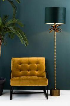 8211418_8 Art Deco Living Room, Living Room Designs, Living Room Floor Lamps, Salon Art Deco, Tree Floor Lamp, Gold Floor Lamp, Green Rooms, Room Colors, Home Interior Design