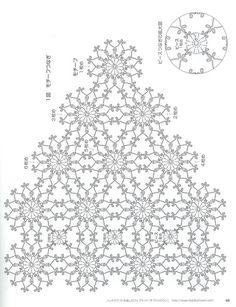 Shawl Crochet Patterns Part 6 – Beautiful Crochet Patterns and Knitting Patterns – BuzzTMZ Crochet Scarf Diagram, Crochet Doily Patterns, Crochet Chart, Crochet Cardigan, Filet Crochet, Irish Crochet, Crochet Flowers, Flower Patterns, Crochet Stitches