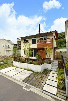 house_k03 (1) Futuristic Architecture, Landscape Architecture, Building Design, Building A House, Garden Design, House Design, Outdoor Living, Outdoor Decor, Japanese House