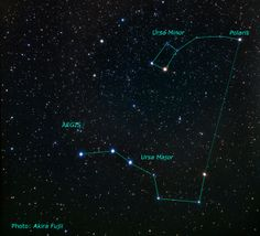 This picture shows the position and the size of the EGS field on the sky. For orientation the constellations of Ursa Major, Ursa Minor and Polaris are given.