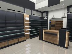Φαρμακεία | Φόρμα Πουράνης Shoe Store Design, Retail Store Design, Golf Design, Shop Counter Design, Mobile Shop Design, Clothing Store Interior, Showroom Interior Design, Supermarket Design, Shop Interiors