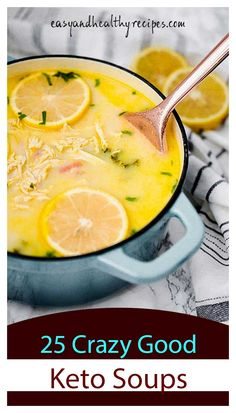 As soups are so comforting these days, we're glad to write about them. And, the post today will focus on soups for low-carb and keto eaters. It's entitled 25 keto soups that will keep you amazed. They promise to be great help to those who are beginne Ketogenic Diet, Ketogenic Recipes, Low Carb Recipes, Cooking Recipes, Healthy Recipes, Meal Recipes, Healthy Eats, Keto Foods, Keto Snacks
