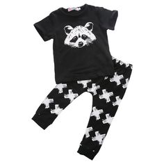 Raccoon T'Shirt and Pants Set