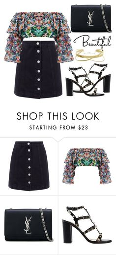 """""""Untitled #8879"""" by tatyanaoliveiratatiana ❤ liked on Polyvore featuring Mochi, Yves Saint Laurent, Valentino, men's fashion and menswear"""