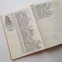 Bullet journal inspiration read books and drink tea, track how much reading you have done throughout the year.