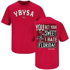 Georgia Bulldogs Fans. YBYSA (Anti-Florida). T-Shirt