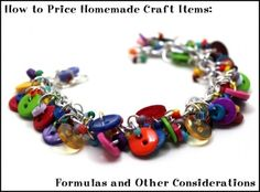 How to Price Homemade Craft Items: Formulas and Other Considerations Homemade Jewelry, Homemade Crafts, Diy Jewelry Findings, Amber Jewelry, Beaded Jewelry, Bijoux Diy, Button Crafts, Button Art, Schmuck Design