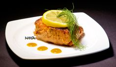 Nosa's Recipes : salmon fillet with honey - mustard and soy sauce.