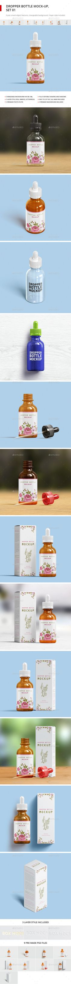 Dropper Bottle Mockup and Package Box Mockup — Photoshop PSD #showcase #dropper • Available here → https://graphicriver.net/item/dropper-bottle-mockup-and-package-box-mockup/17922328?ref=pxcr