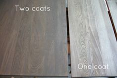 Weathered grey oak stained cabinets at bottom with minwax oil based weathered oak