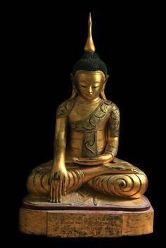 Gilt-Wood Shan Buddha, 18th Century, Myanmar