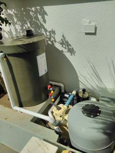 Typical Pool backwash water saving system
