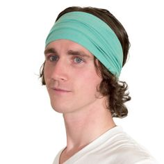 "DESIGNER'S NOTES  -Non-slip and extremely comfortable sports headbands -Woven, dyed, cut and sewn in downtown Los Angeles -Made from soft & wicking organic cotton and... ...includes a window of Eucalyptus-tree-derived Tencel -Great kundalini headband: opens 8"" to cover crown  -Perfect as a yoga, tennis and hiking headband -One size fits all  -11% of profit to charity = spreading good in the world"