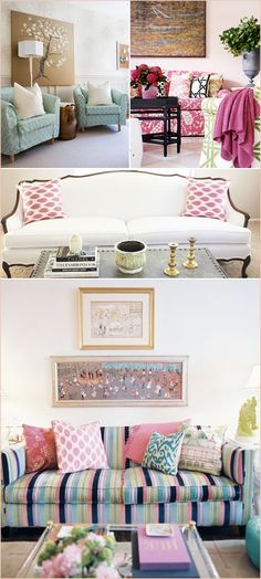 Fun color scheme Love/Hate the couch.... seriously good work on one cushion and then gave up on the other?!!
