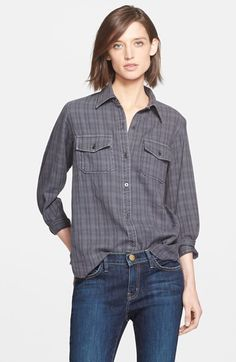 Current/Elliott 'The Perfect Shirt' Plaid Shirt