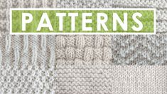 Get free pattern instructions and video tutorials for beginning knitters, including the Garter, Stockinette, 1x1 Rib, 2x2 Rib, Reverse Ridge, Hurdle, Seed, Irish Moss, Basket Weave, Checkerboard, Waffle, Caterpillar, Chevron, Linen, and more knit stitch patterns.