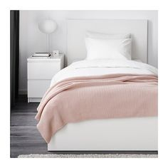 IKEA - INGABRITTA, Throw, pale pink, Soft knitted throw that feels nice against the skin. Ektorp Sofa, Blush Pink Throw, Pale Pink, Ikea Sortiment, Plaid Rose, Pink Throws, Bed Throws, Pink Blanket, Knitted Throws