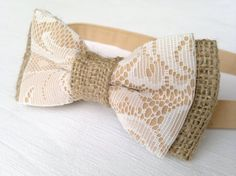 Hey, I found this really awesome Etsy listing at https://www.etsy.com/listing/203421810/mens-lace-and-burlap-bow-tie-rustic-bow