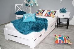 Łóżko 90x200 w Meble do sypialni - Allegro.pl - Strona 2 Travel Size Products, Kids Room, Toddler Bed, Pure Products, Furniture, Home Decor, Children, Recipes, Child Bed